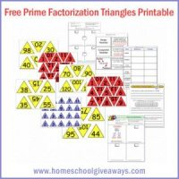FREE Printable Prime Factorization Triangles Math Game & Worksheets