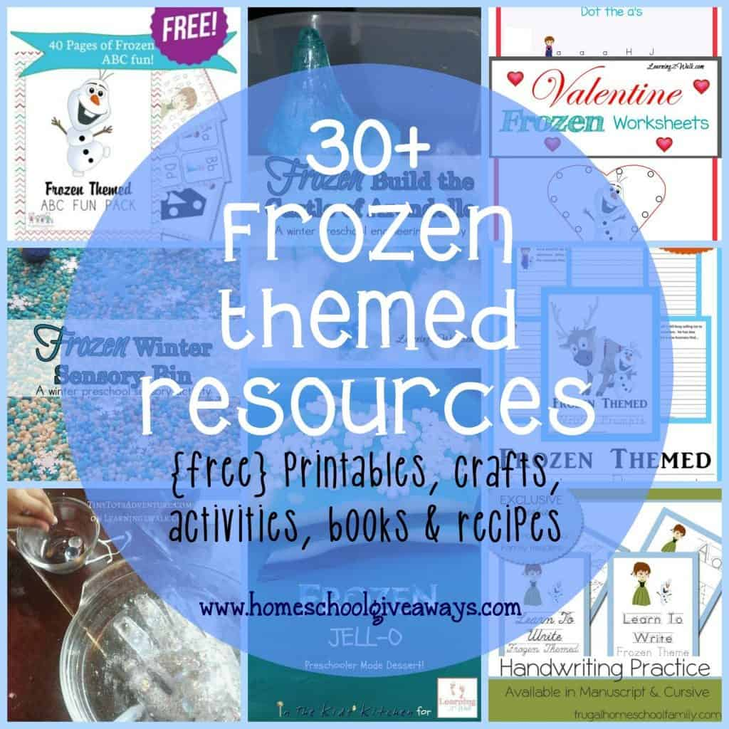 Frozen Themed Printables Crafts Activities Recipes Amp More