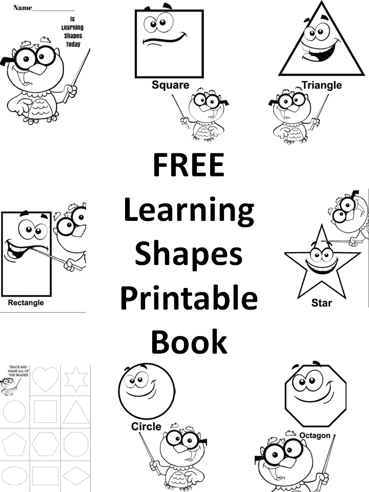 FREE Learning Shapes Printable Book