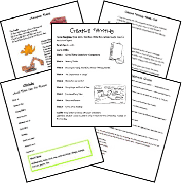 Creative writing lesson plans middle school students