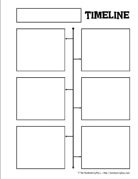 FREE Timeline Notebook Page