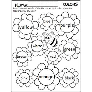 FREE Colors Coloring Printable