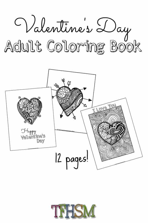 FREE Valentine's Day Coloring Book Perfect for Teens