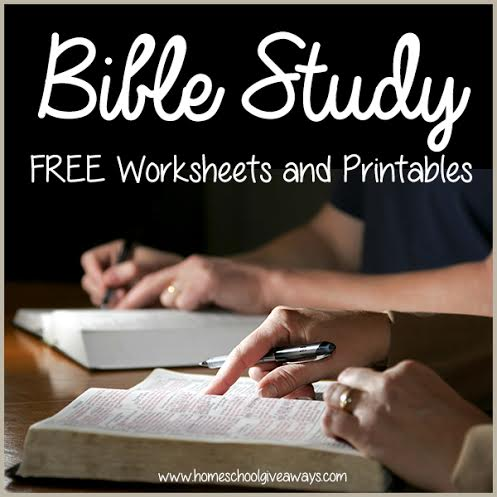 FREE Bible Study Worksheets and Printables - Homeschool