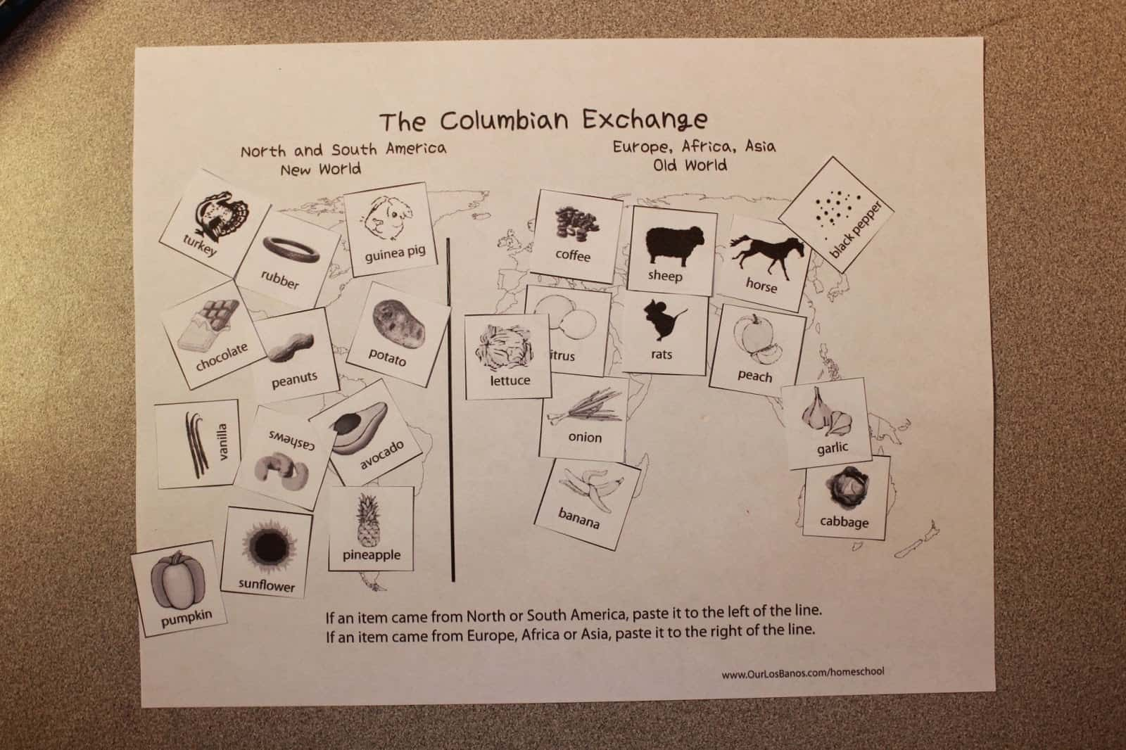 The Columbian Exchange Free Printable