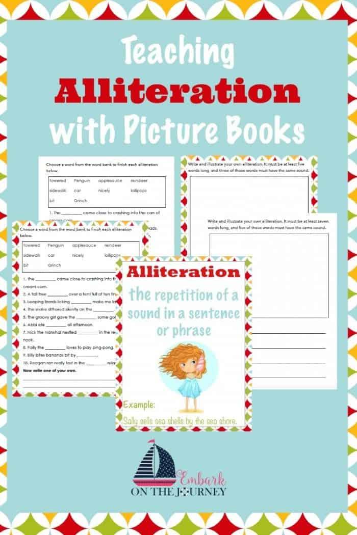 Free Teaching Alliteration Printable Pack