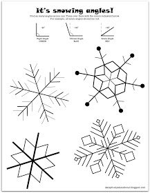 It's Snowing Angles FREE Worksheet and Math Activity