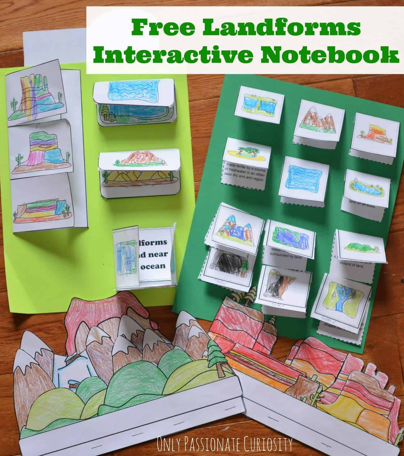 Free Printable Landforms Interactive Notebook