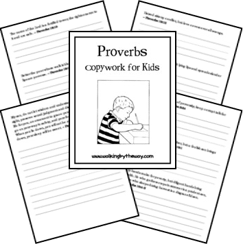 FREE Proverbs Copywork for Kids