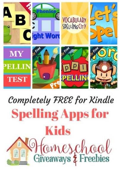 FREE Kindle Educational Spelling Apps for Kids - Homeschool