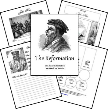 FREE Printable Reformation Unit Study and Lapbook