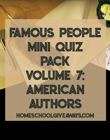 FREE Famous People Mini Quiz Pack Volume 7 - American Authors
