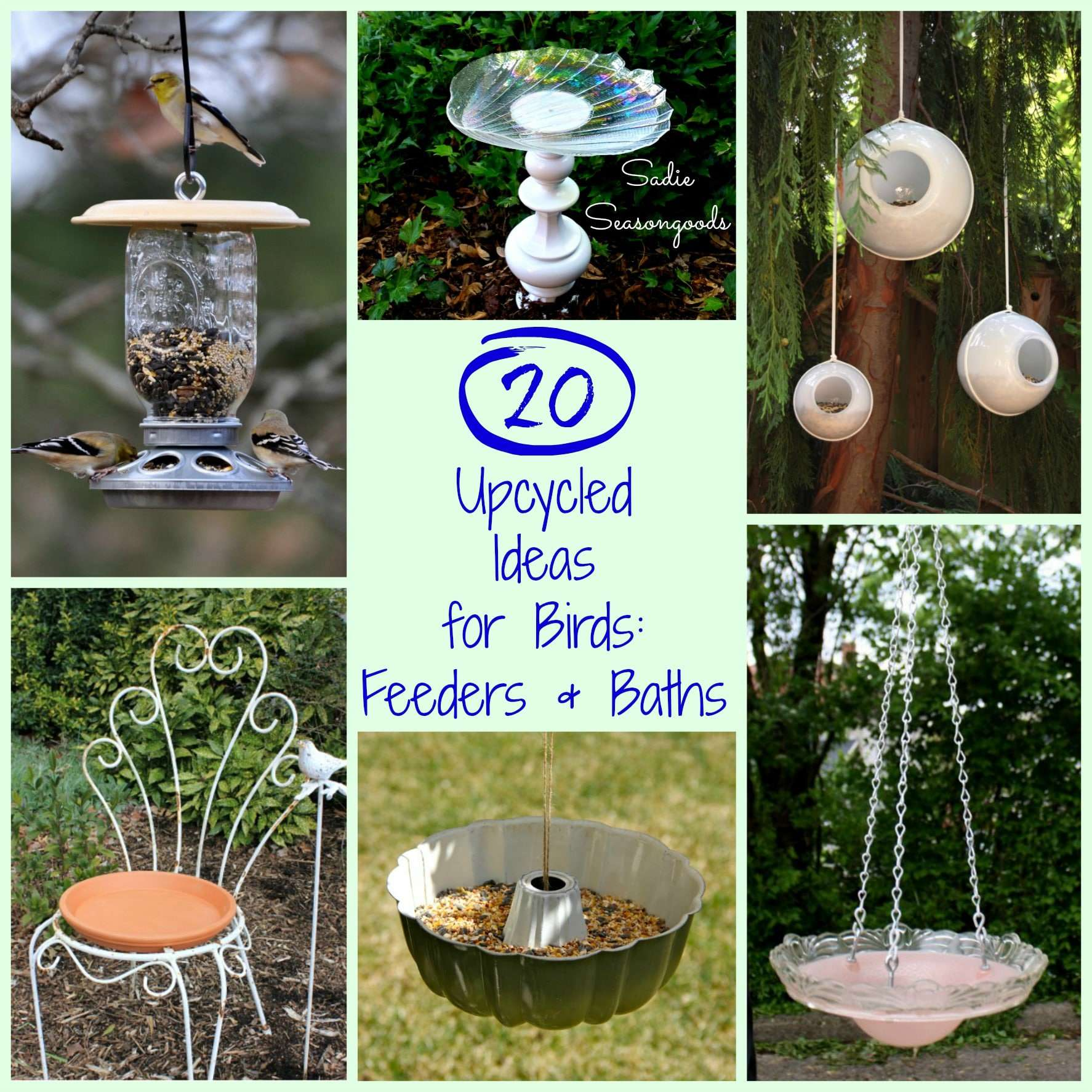 20 Upcycling Ideas For Bird Feeders And Birdbaths