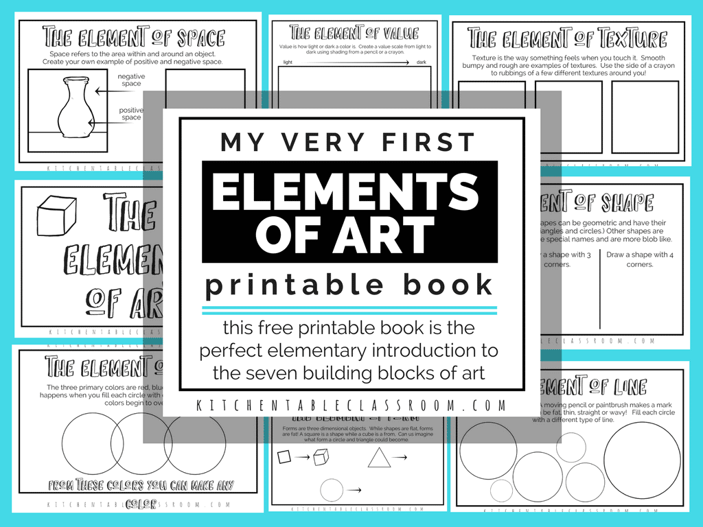 Elements Of Art Free Printable Book