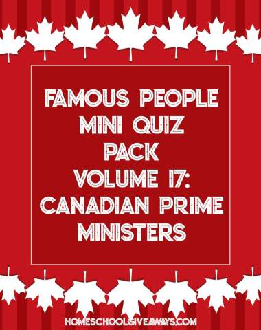 FREE Famous People Mini Quiz Pack Vol. 17 – Canadian Prime Ministers