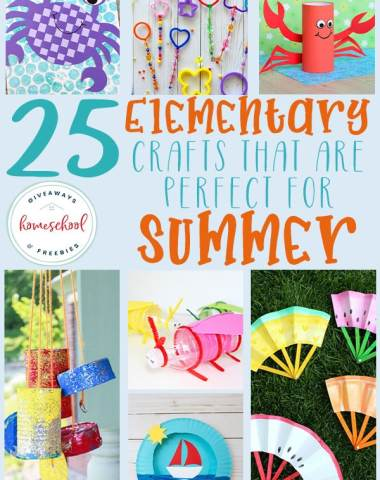 "Do your kids love crafts? Are you tired of hearing ""I'm bored!"" all summer long? Try crafts! These Summer Themed crafts are a great way to curb the boredom and give them a way to explore their imaginations! #summer #elementary #crafts #hsgiveaways"