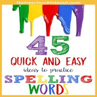 45 Ways to Practice Spelling Words