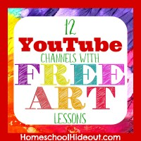 12 Art Lessons on YouTube Your Kiddos will Love!