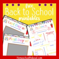 Free Back to School Printables for Photos