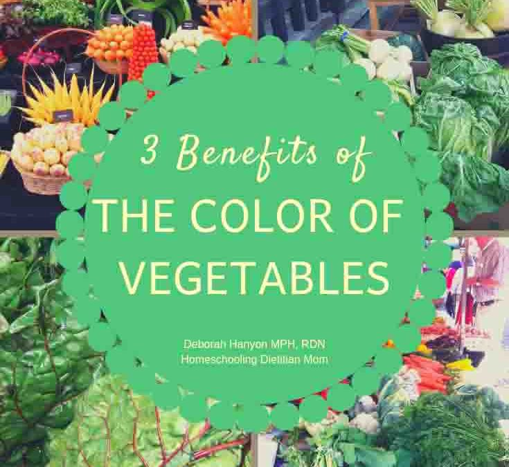 Why the color of vegetables is important