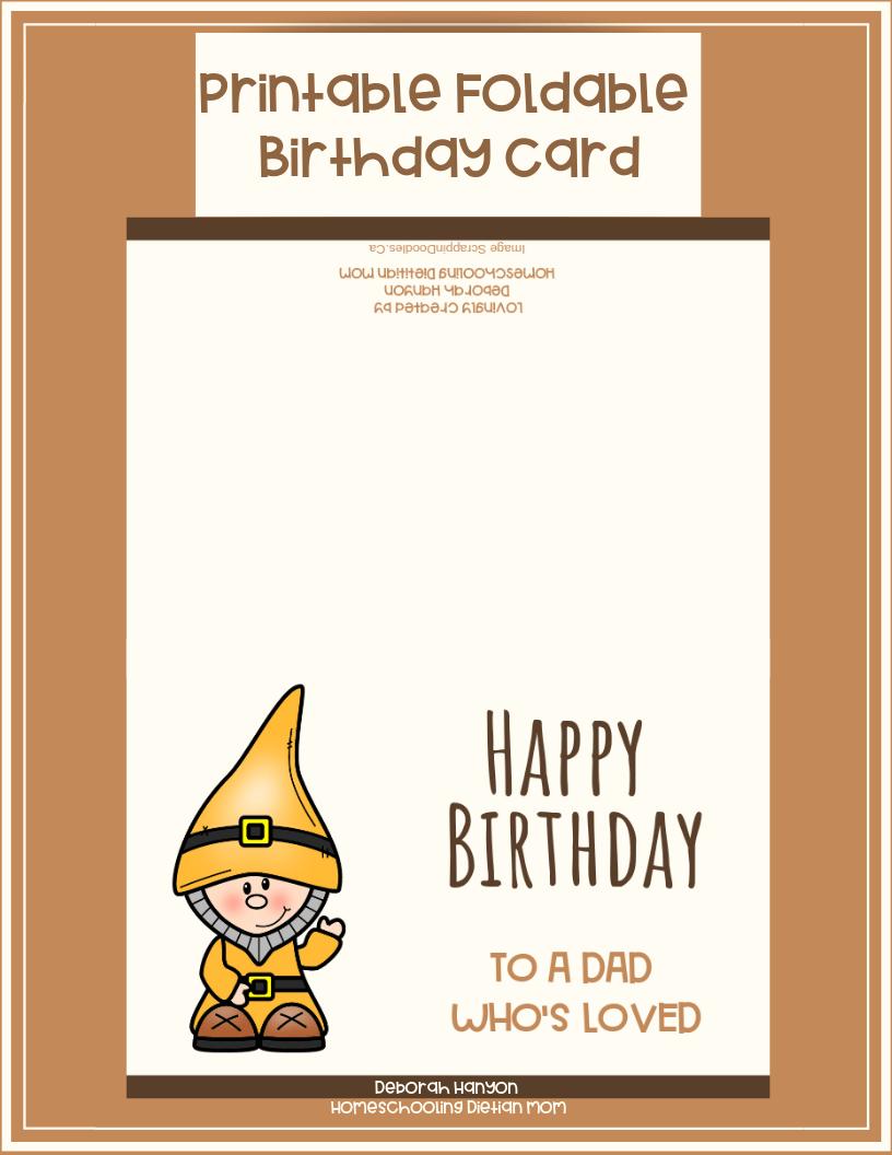 Marvelous Printable Birthday Card Dad Homeschooling Dietitian Mom Personalised Birthday Cards Rectzonderlifede