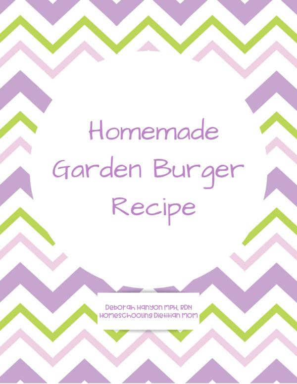 Homemade Garden Burger Recipe
