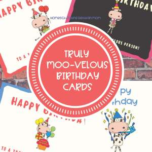 Moo-Velous Cow Birthday Cards