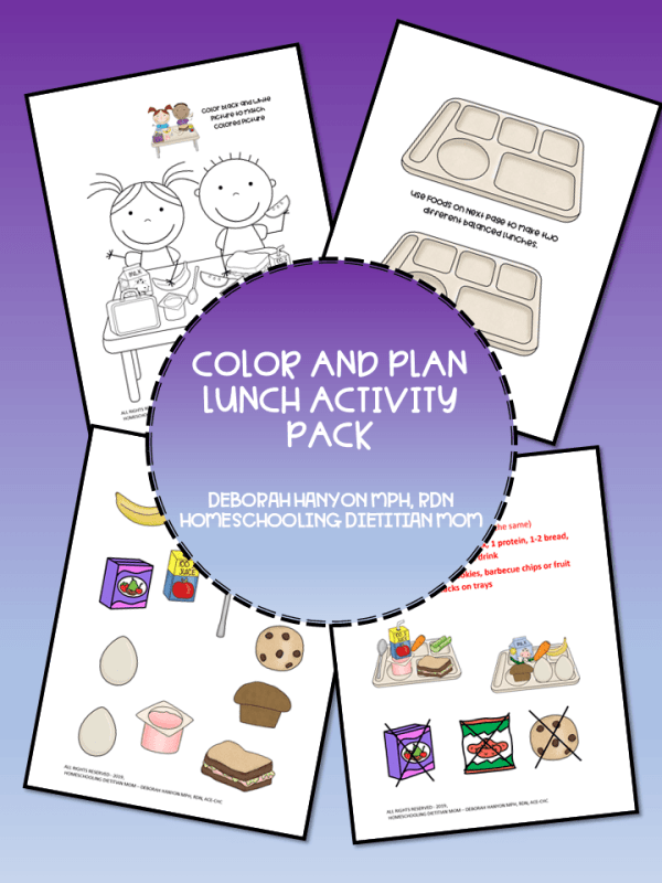 Color and Plan Lunch Activity Pack