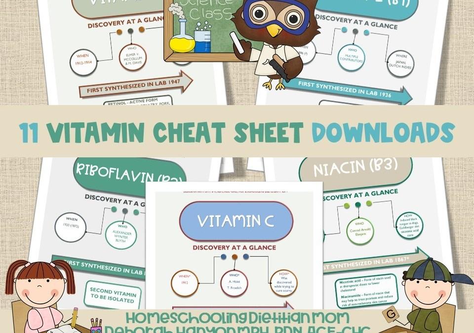 Vitamin Cheat Sheets