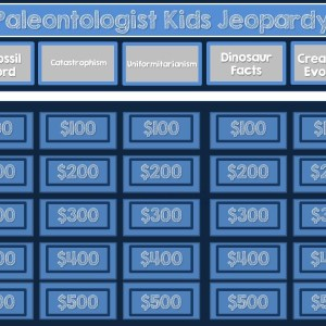 Dinosaurs and Fossils Jeopardy Game