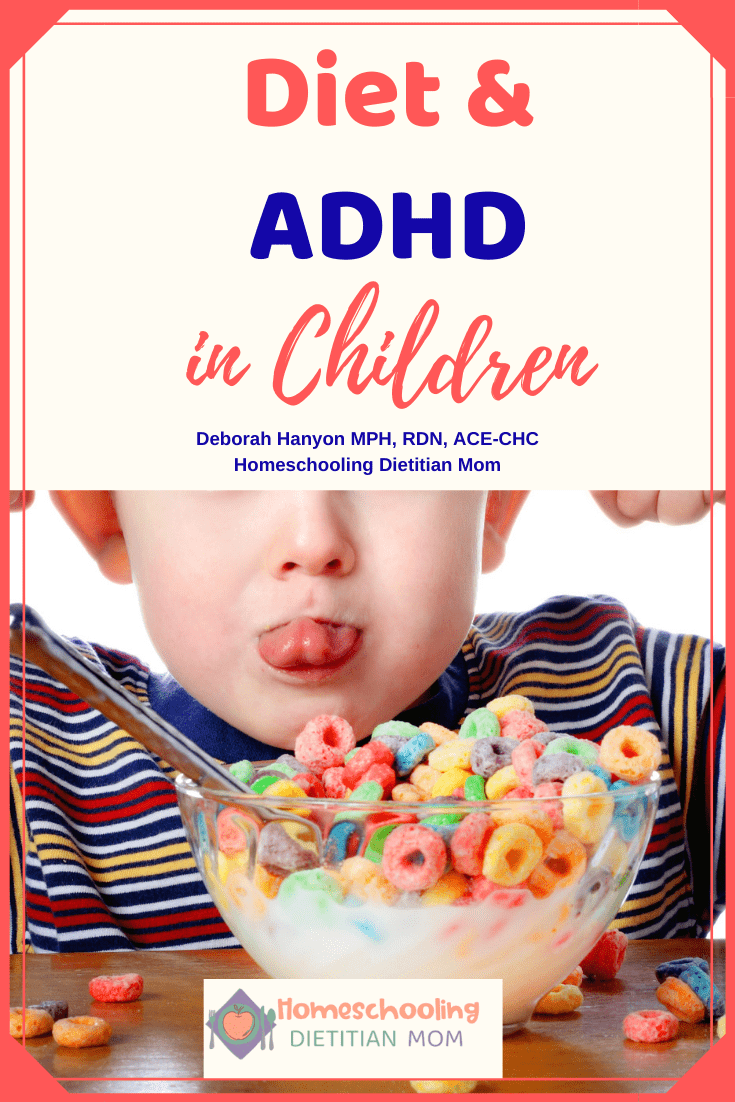 Diet and ADHD - Child in Striped Shirt Eating Fruit Loops Cereal
