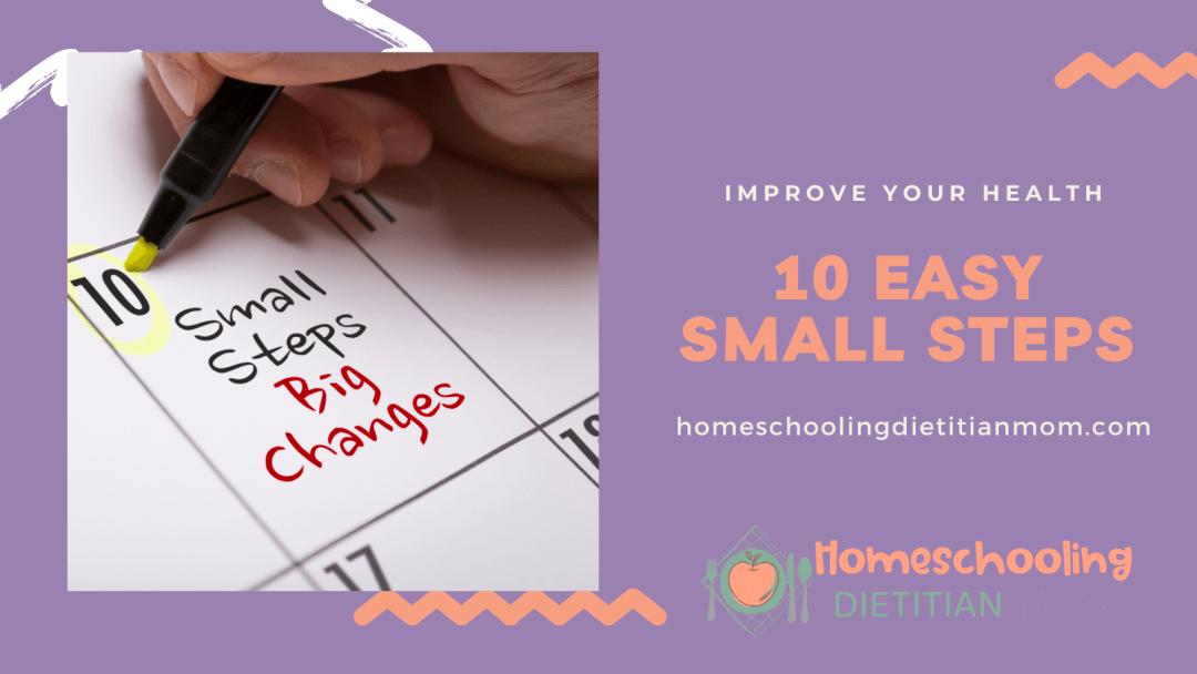 10 easy steps small steps big changes on calendar