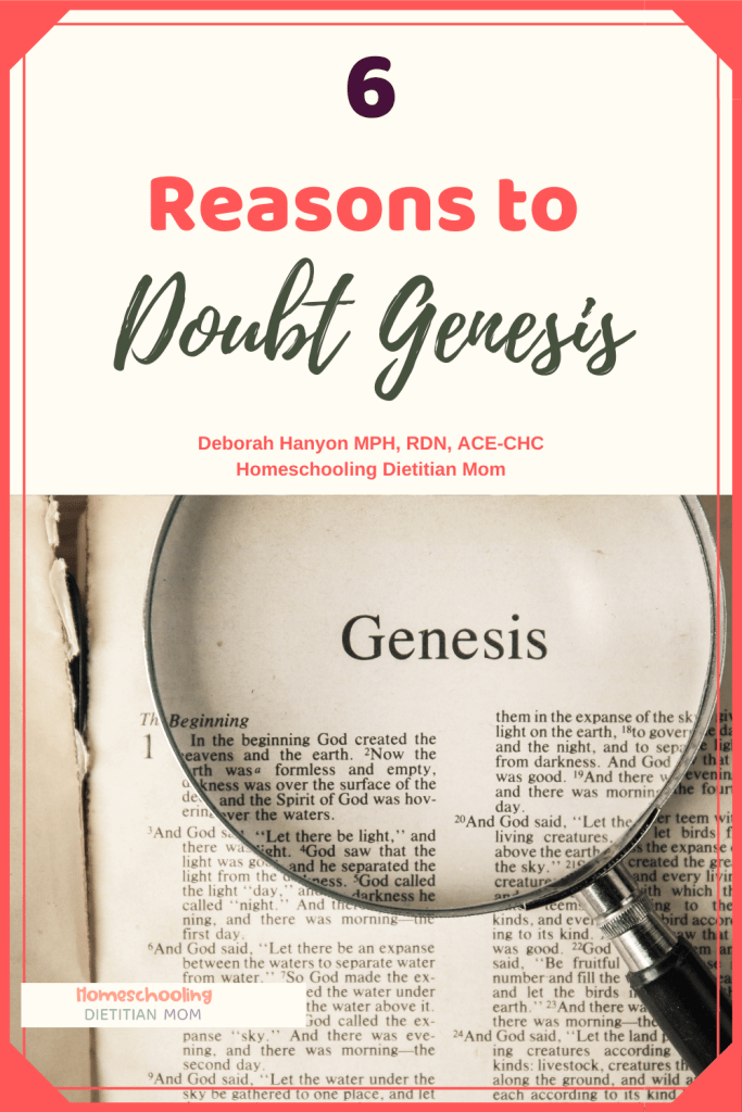 Genesis of the Bible fact or fiction, magnifying glass on open Bible - Why don't people believe in young earth creationism?