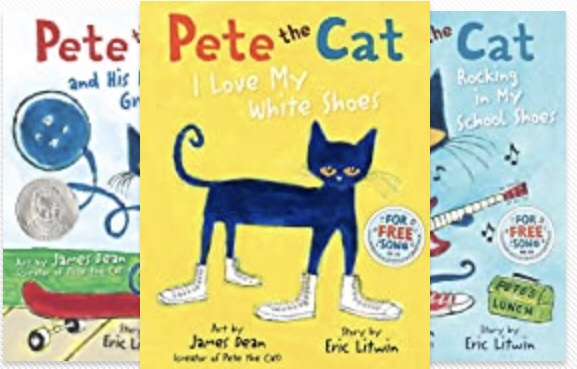 Pete the cat Series - pre k reading list