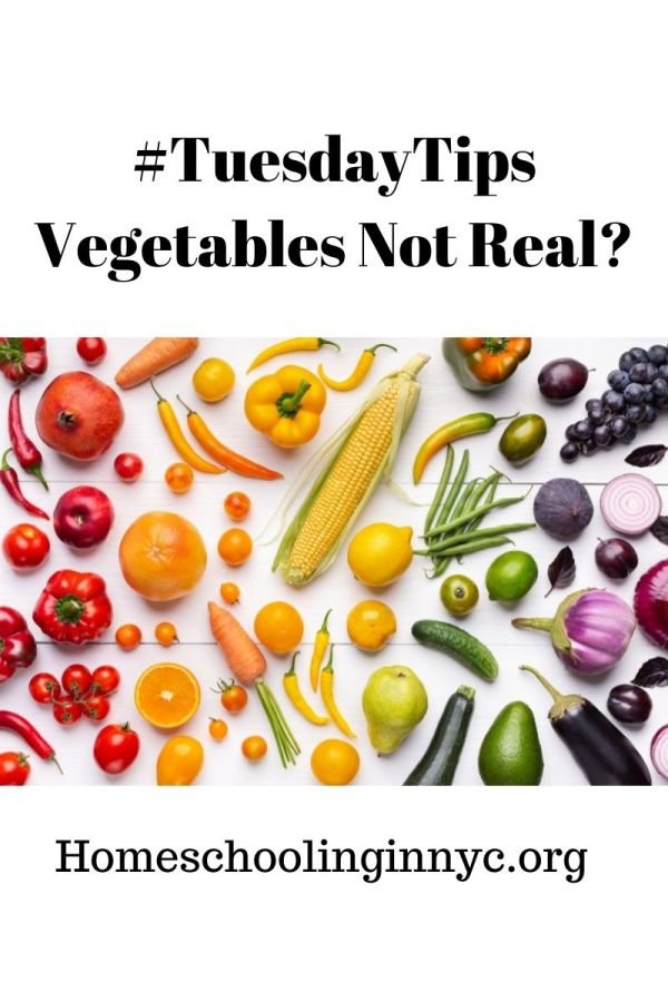 Are Vegetables are not real?