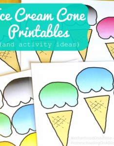 Free ice cream cone printables also and activities rh homeschoolingonadime