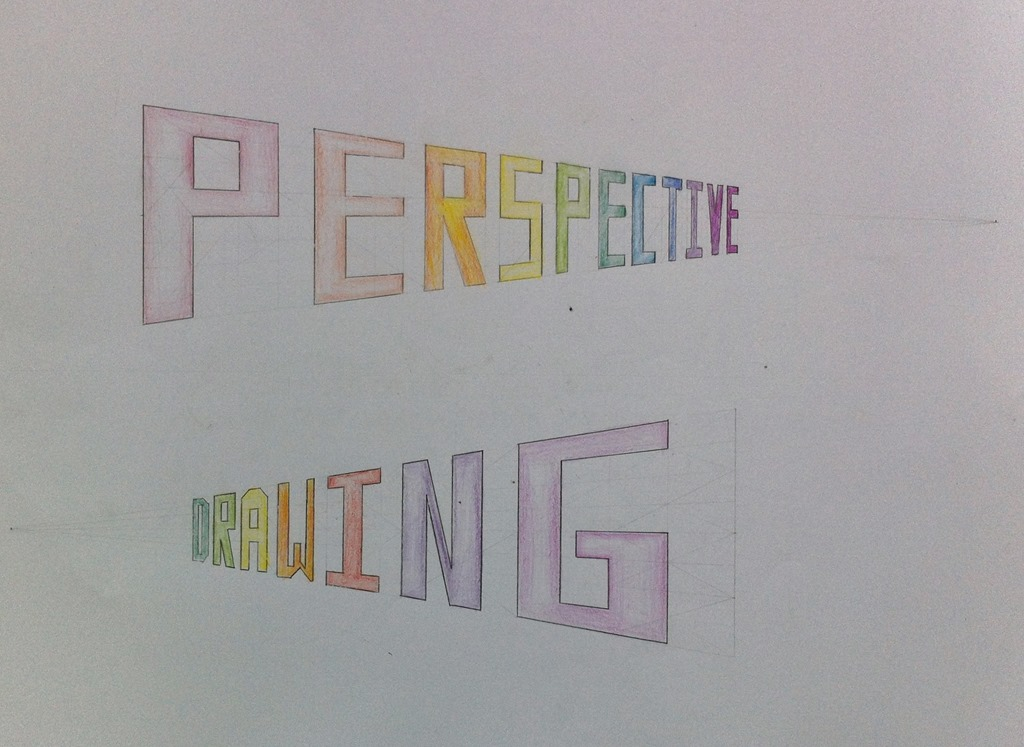 Grade Seven  Perspective Drawing  Homeschooling Waldorf has moved to wwwhomeschoolingwaldorfcom