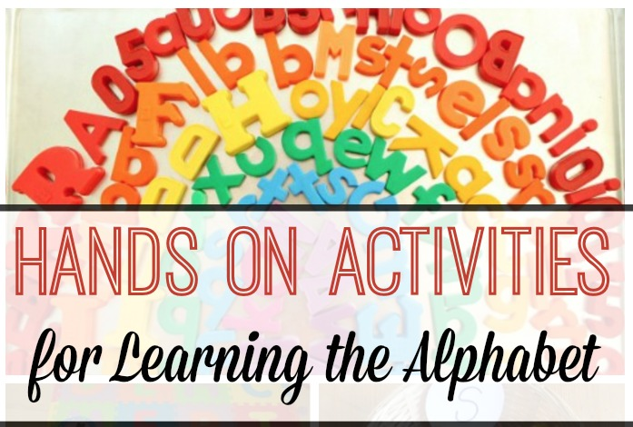 Hands On Activities for Learning the Alphabet fb