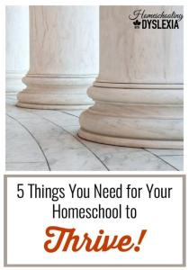 How to Have a Thriving Homeschool