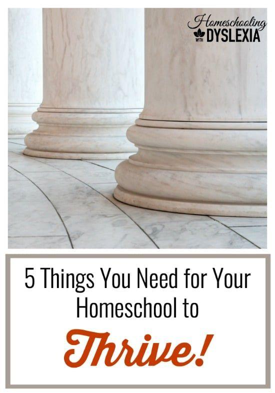 How to Have a Thriving Homeschool~Does this describe your homeschool? Mom is overwhelmed, the kids are resistant to doing school, there is a disconnect between goals and achievement, and honestly, it would be hard for anyone to be consistent with school if they were experiencing these same sorts of things.
