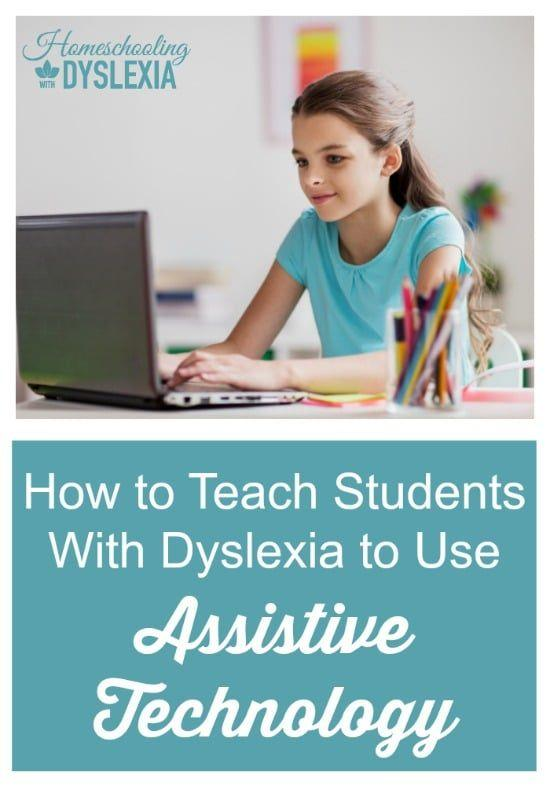 Teaching students with dyslexia to use assistive technology helps them be more independent learners and bossts their confidence. HomeschoolingwithDyslexia.com #homeschooling #homeschooltech #assistivetechnology #dyslexia #homeschoolingwithdyslexia