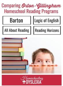 Orton Gillingham reading programs
