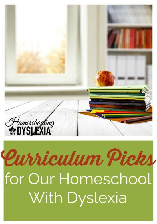 Our homeschool curriculum choices for our 3rd, 6th, 8th and 10th graders with dyslexia.  #homeschoolingwithdyslexia #homeschoolcurriculum #homeschooling #curriculumpicks #specialneeds #homeschool