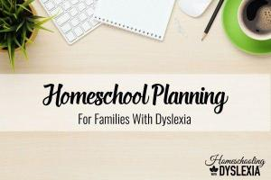 Planning For Your Homeschool