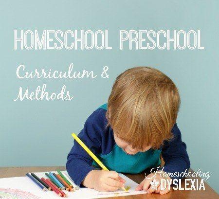 Homeschool Preschool:  Curriculum and Methods