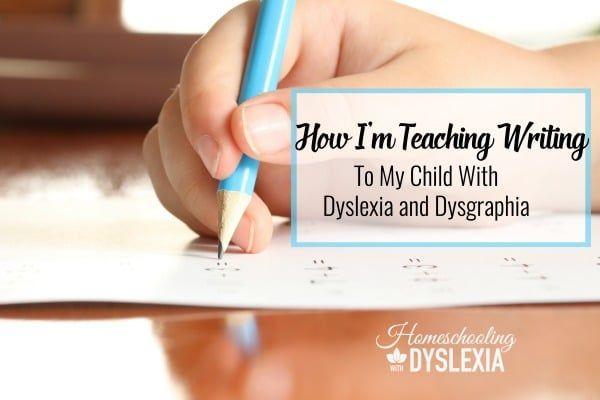Teaching Writing Dysgraphia