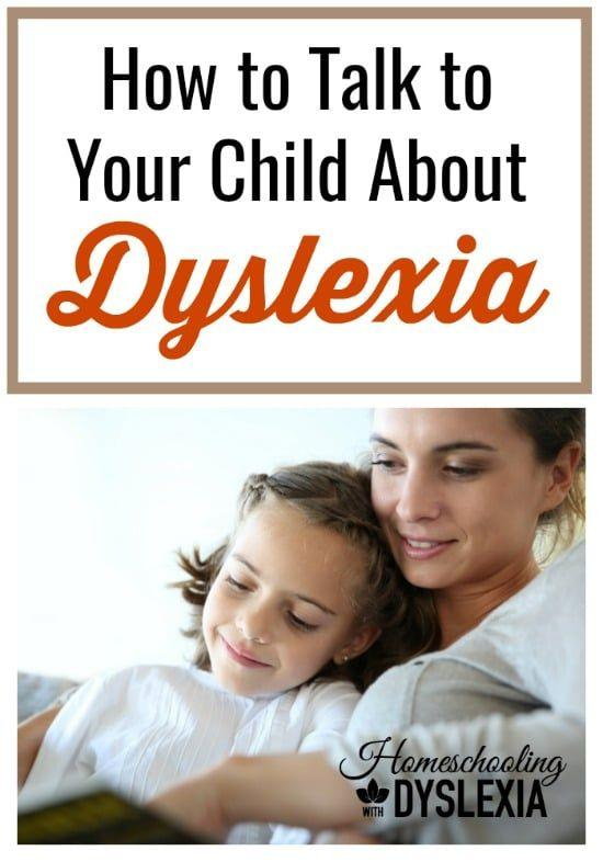 How to talk to a child about dyslexia