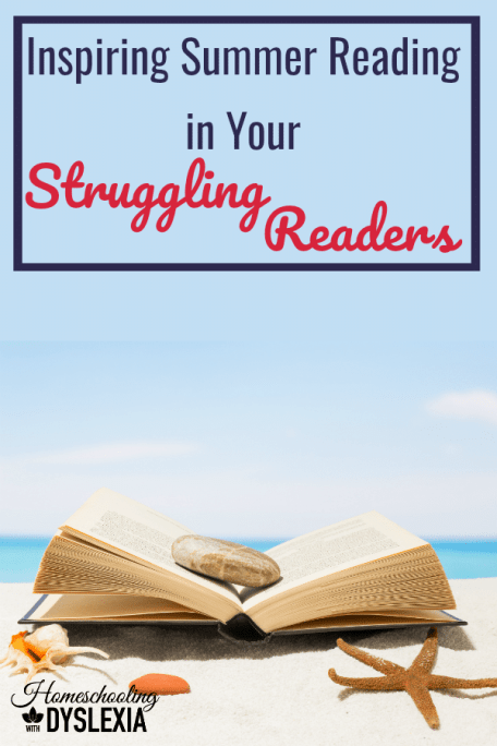 Summer reading is a great opportunity for kids to dive into great books. However, kids who struggle with reading will oftentimes avoid reading because it is so difficult. Here are some tips to help struggling readers enjoy summer reading.