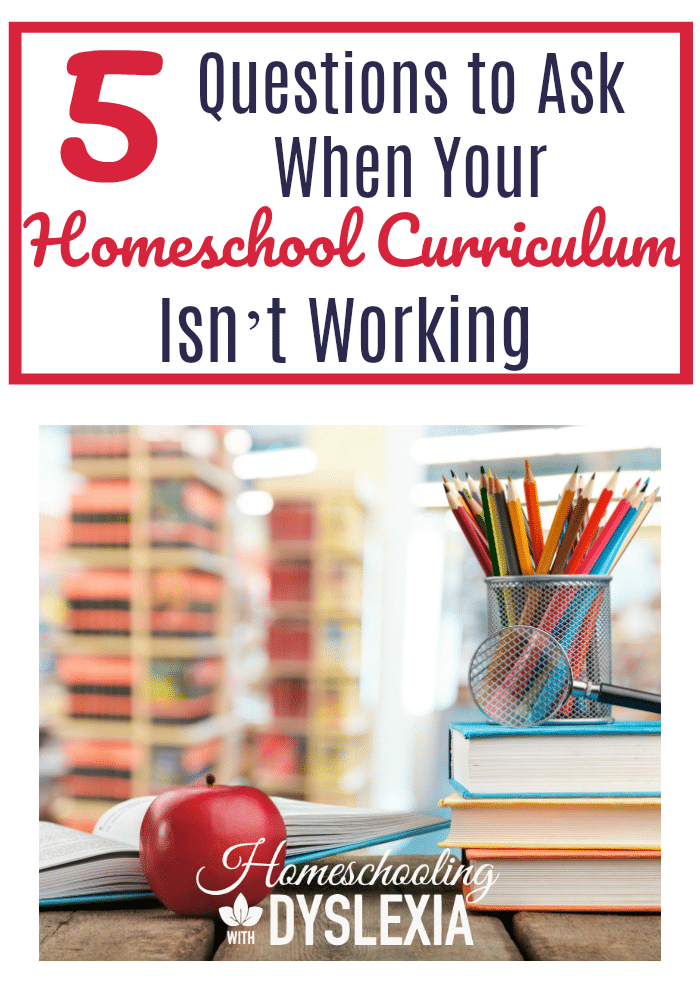 After mentoring a homeschool mom who was concerned because her homeschool curriculum isn't working, I came up with the following guidelines for when you get stuck with a curriculum that doesn't seem to be 'working'. The solution may not be what you'd expect!