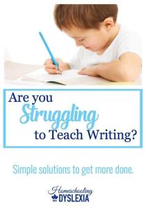 Teaching Homeschool Writing